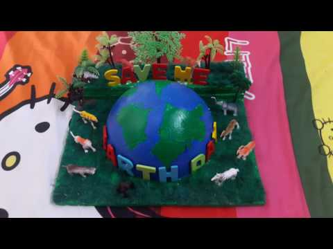 home made earth day project for school