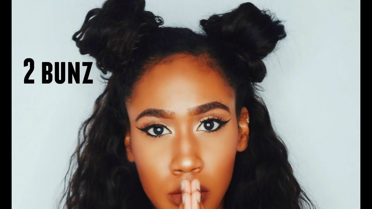 2 Buns Hairstyle Tutorial YouTube