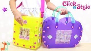 自分でつくる バッグ屋さん 海外おもちゃ / Make a Bag , Click & Style Bag Craft Kit