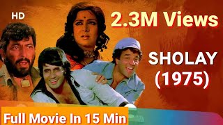 Sholay  3d  Full Hd Movie in  15 min    ,  Amitabh Bachchan, Dharmendra, Hema Malini