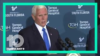 VP Mike Pence is meeting with Gov. Ron DeSantis to talk Florida's COVID-19 response
