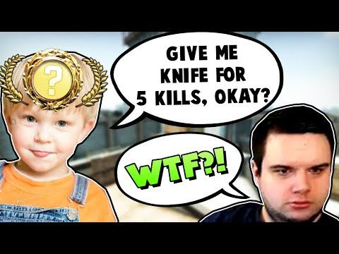 KLEINER JUNGE WILL KNIFE 🔪 FÜR 5 KILLS?! - CS:GO Funny Moments