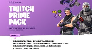 Fortnite Twitch Prime Pack - 2 Free Save the World Heroes!