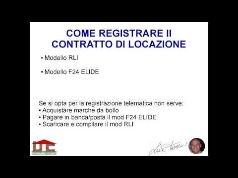 Video come registrare il contratto di locazione for F24 elide prima registrazione