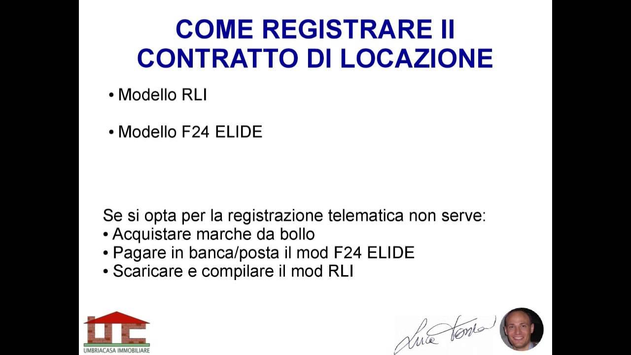 Registrazione contratto di locazione youtube for Contratto di locazione arredato