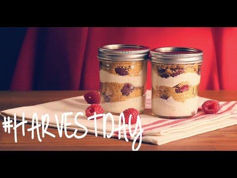 Recipe: How to Make Raspberry Cheesecake Jars | #HarvestDay | Oprah Online