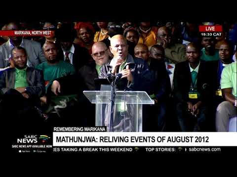 Joseph Mathunjwa addresses the 7th Marikana massacre commemoration
