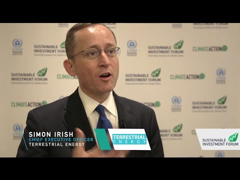 Climate Action Leader Simon Irish at the Sustainable Investment Forum