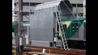 東急池上線 78運行 7000系 雪が谷検車区新型洗車機