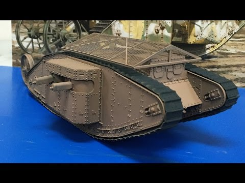 Building The Takom 1/35 British MK I Female WW I Tank complete build and review.