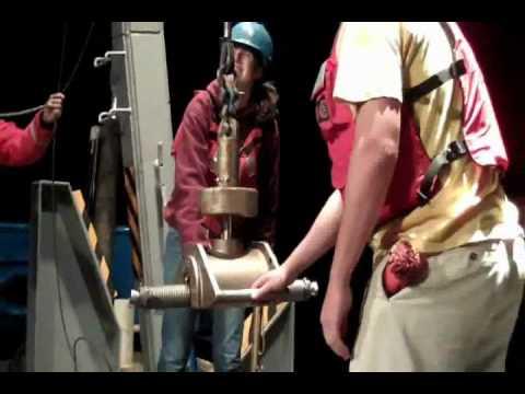 Using Shipek Sediment Grab Sampler