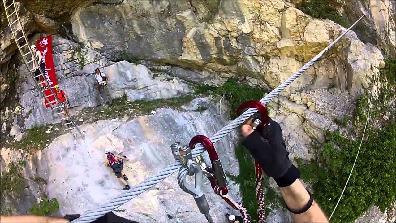 Klettersteigset Mammut : Mammut klettersteig seilbrücke beisteinmauer youtube