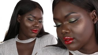 FULL FACE USING PRODUCTS $10 & UNDER || DARK SKIN
