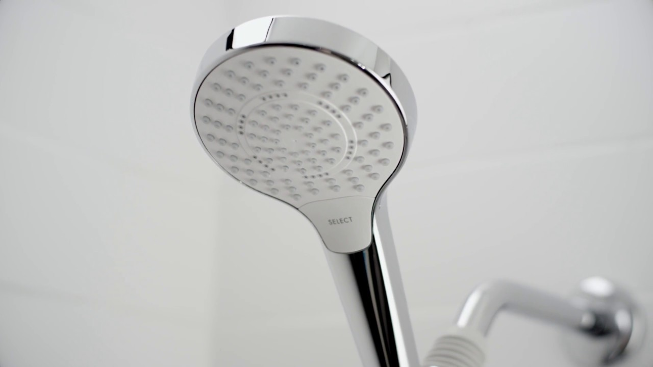 hansgrohe MySelect Handshower Set - YouTube