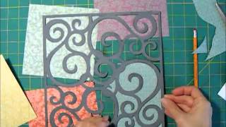 Scrapbook Process for Die Cut Background and 6x6 Papers