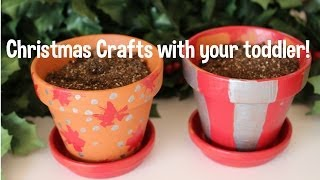 DIY Christmas Crafts 2! How to! Toddler friendly! Thumbnail