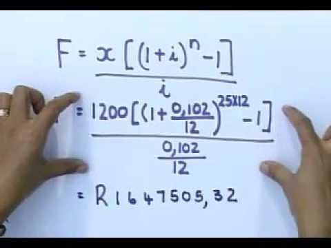 Matric revision: Maths: Financial Mathematics (3/6): Future value, Example 1