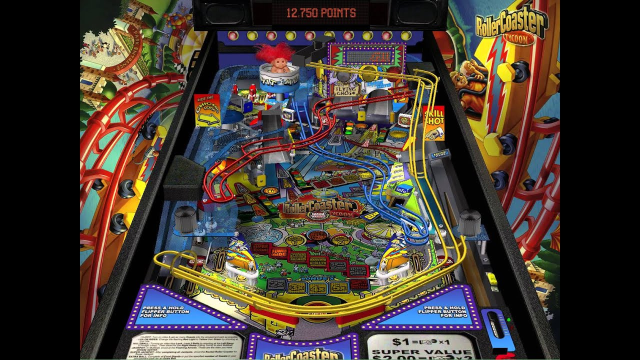 Download RollerCoaster Tycoon (pinball table)