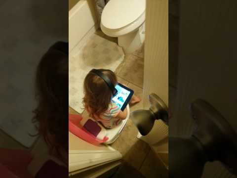 Potty time is alone time