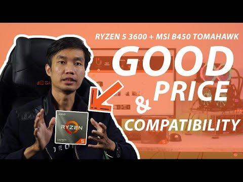 REVIEW AMD RYZEN 3600 & TUTORIAL UPDATE BIOS MSI B450 TOMAHAWK