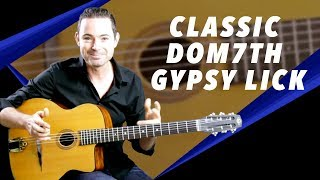 Classic Gypsy Jazz Dominant 7th Lick - Gypsy Jazz Guitar Secrets Lesson