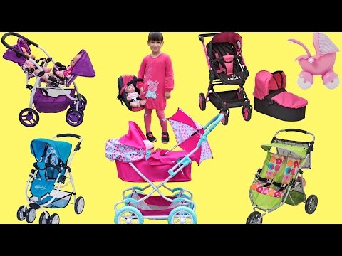 Dolls Pram Baby Born Baby Annabell Little girl and Baby Dolls Went Toy Shopping Play in The Park