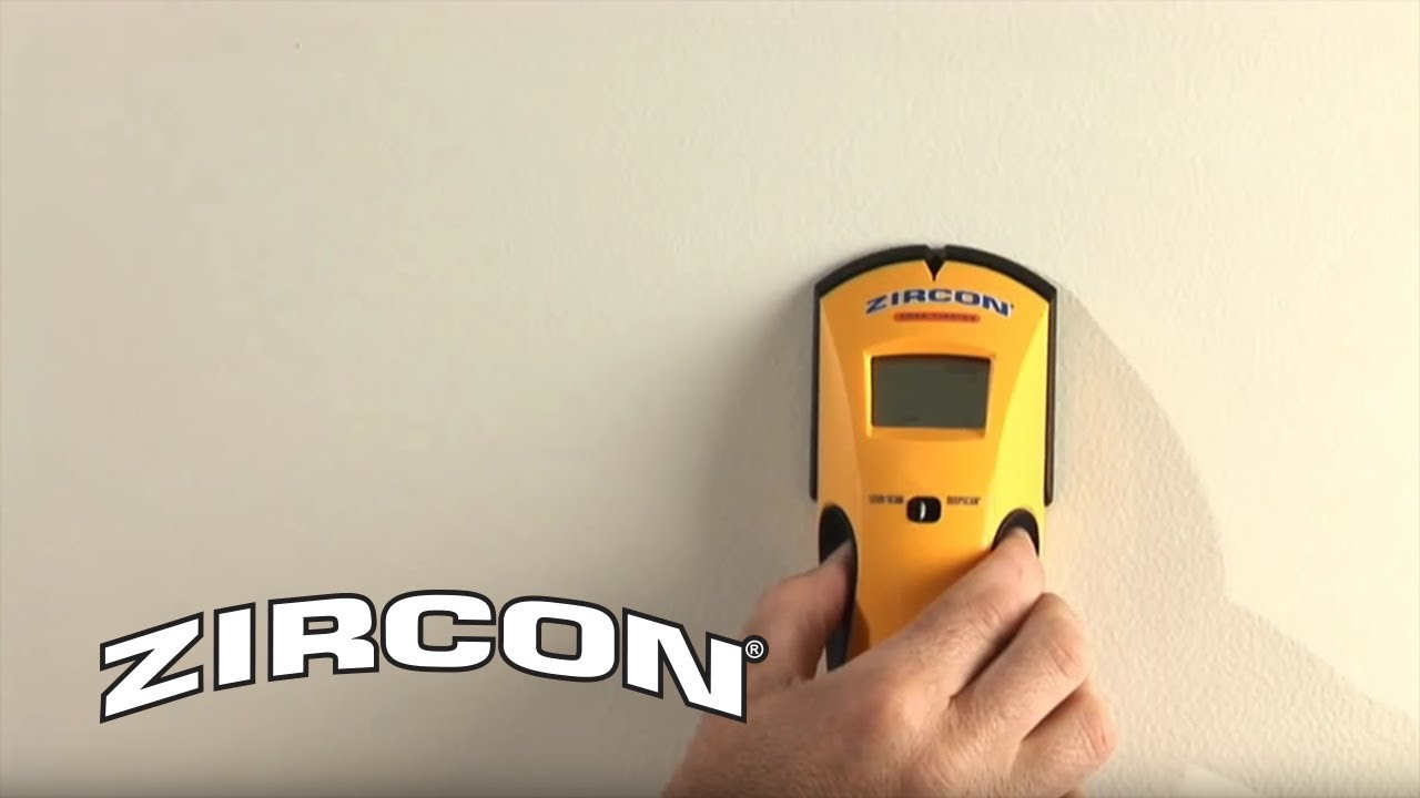 how to use a zircon studsensor e50 stud finder to find wall studs rh youtube com