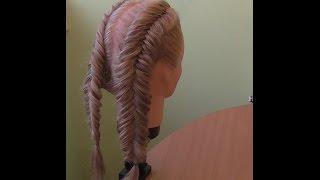 """Коса """"обратный рыбий хвост"""" . Видео-урок. (1)"""