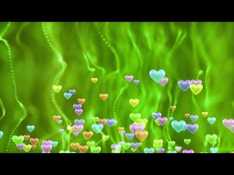 Royalty Free Green & Pink Background Love Animation Motion Video Effect thumbnail