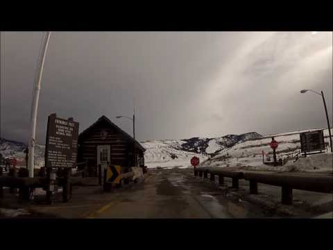 Yellowstone NP in winter ~ Gardiner, MT to Mammoth Hot Springs (2-15-14)