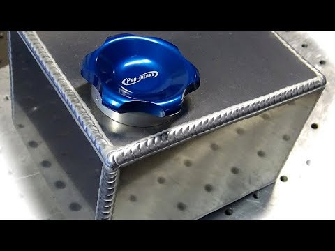 TIG Welding Aluminum Fabrication - Making a small fuel cell (gas tank)
