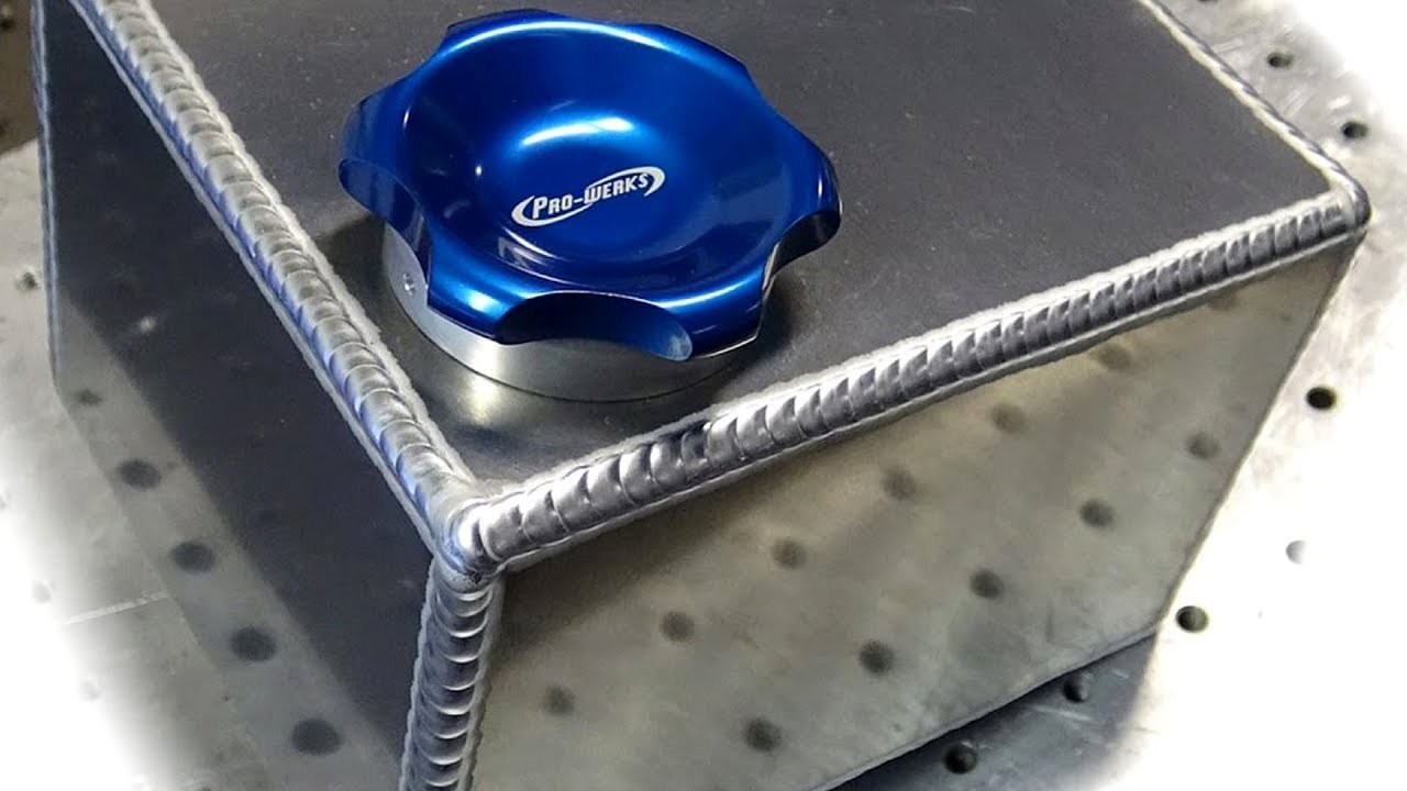 TIG Welding Aluminum Fabrication - Making a small fuel cell (gas tank) -  6061 com