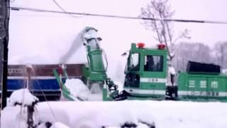 排雪作業@三笠市 2017年12月5日