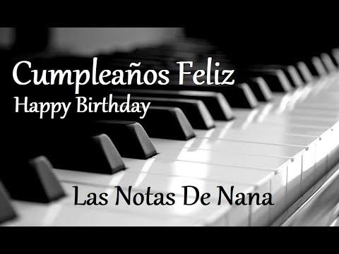 Cumplea os feliz a piano happy birthday to piano las notas de nana - Cumpleanos feliz piano ...