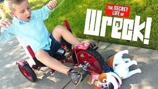 Secret Life of Pets Bike WRECK an MOBO MITY BIKE Toys Review Funny Fail Video by KID CITY