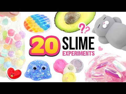20 NEW SLIME EXPERIMENTS! Mixing MORE Crazy Things Into Clear Slime! Satisfying ASMR DIY Slime Dares