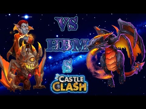 Castle Clash Ghoulem And Vlad VS HBM S ( No Garrison In Towers )