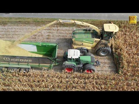 Groeinsatz Maishckseln 2019 Krone Big X 780 14-reihig 10 Fahrzeuge farmer corn harvest Maisernte