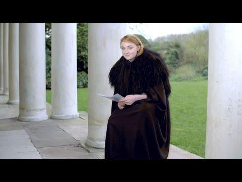 Game of Thrones † Sophie Turner Impersonates Jon Snow & Justin Bieber