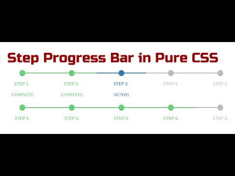 Responsive Step Progress Bar in Pure CSS