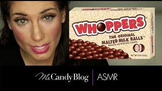 ASMR Candy: Candy ASMR 2015 Whispering Unboxing Eating Crunchy Whoppers candy