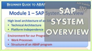 SAP System Overview - Beginners Guide To SAP ABAP Starts With The SAP System Overview