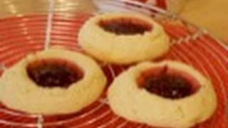 Raspberry Thumbprint Cookies: Cookie Jar #14