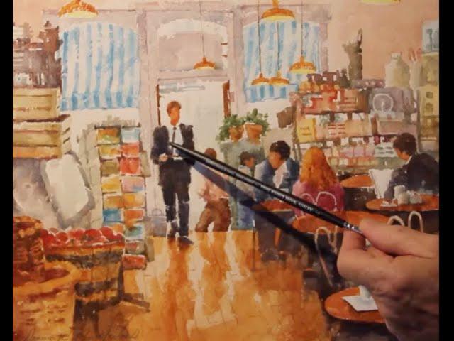 Dennis Pendleton Explains His Painting