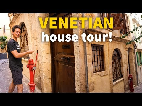 Greek Islands House Tour - OLD VENETIAN HOUSE in Chania, Crete | $137 Per Night!