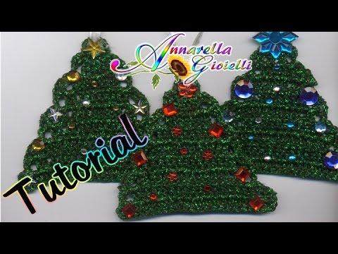 Albero Di Natale Alluncinetto Semplicissimo.Tutorial Alberello Di Natale All Uncinetto How To Crochet A