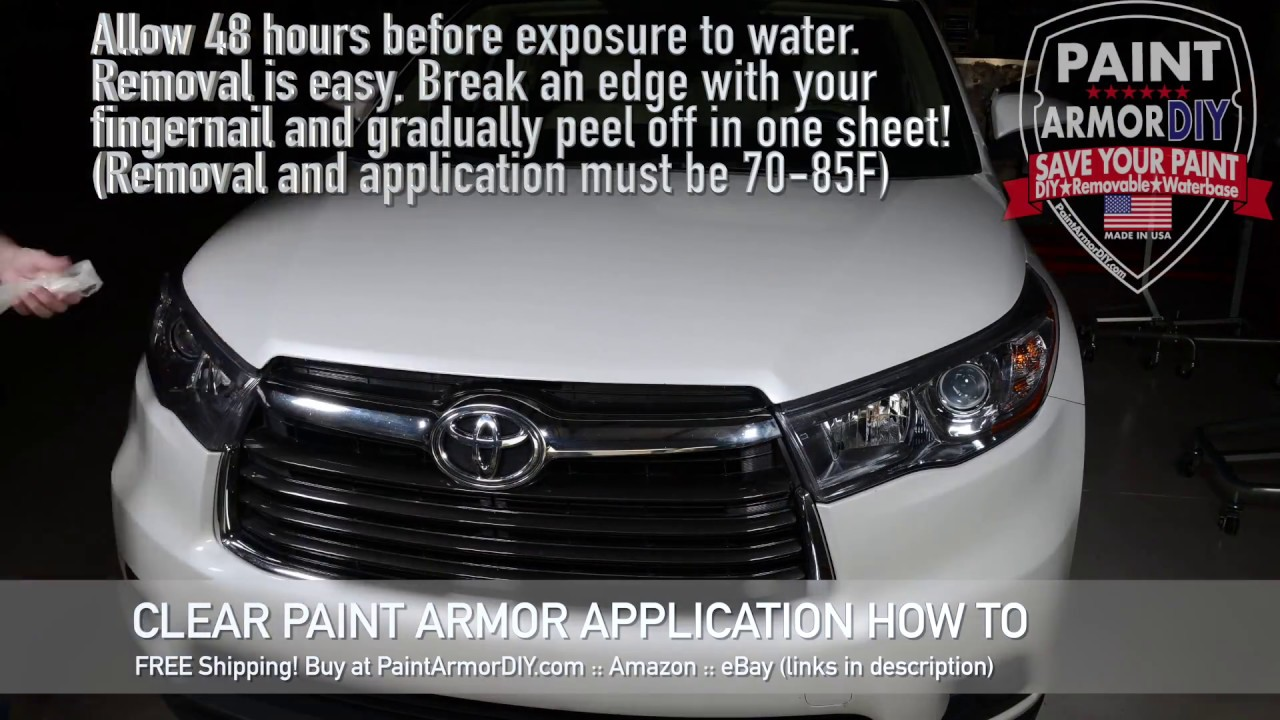 6897d6ec99 Save Your Paint! PaintArmor DIY Paint Protection Film - DIY Clear ...