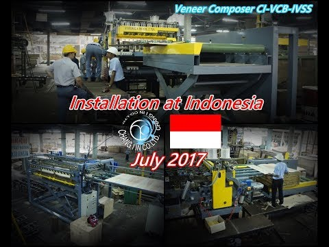 Veneer Core Builder (Timesaver Series) Installation at Indonesia