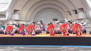 2017年8月26日(土)、東京都渋谷区で開催された「原宿表参道元氣祭」(代々木公園ステージ)での「百物語」さんの演舞です。 ※ビジュアル賞.