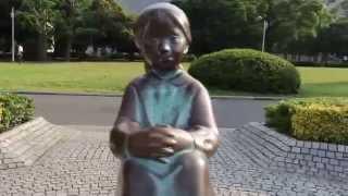赤い靴の女の子の像 横浜・山下公園.